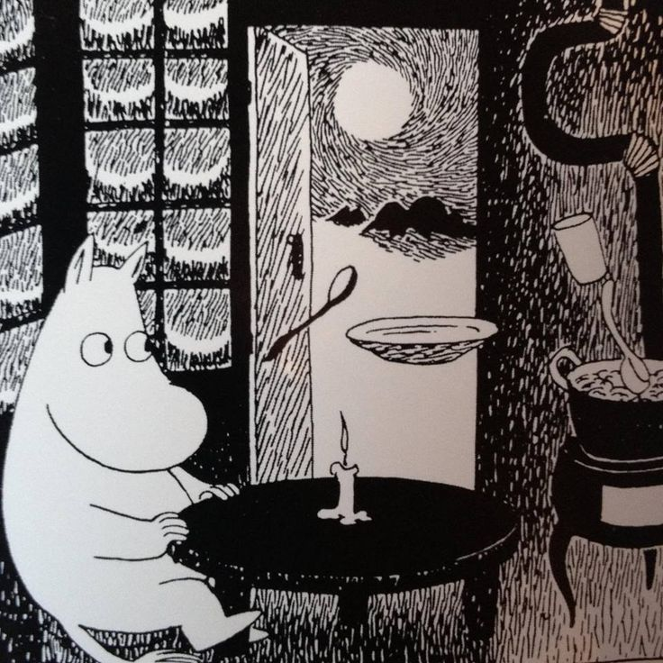 From the Rabbit's Archives: the wonderful nighttime world of the Moomins... by Tove Jansson. See more here (or click the image): http://www.justfollowthewhiterabbit.com/?page_id=487