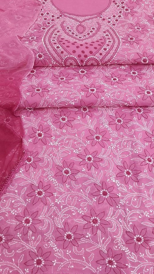 220 best chikankari images on Pinterest | Embroidery