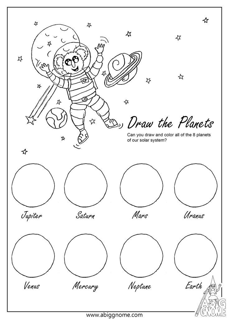 kleurplaten voor kinderen zonnestelsel en gratis