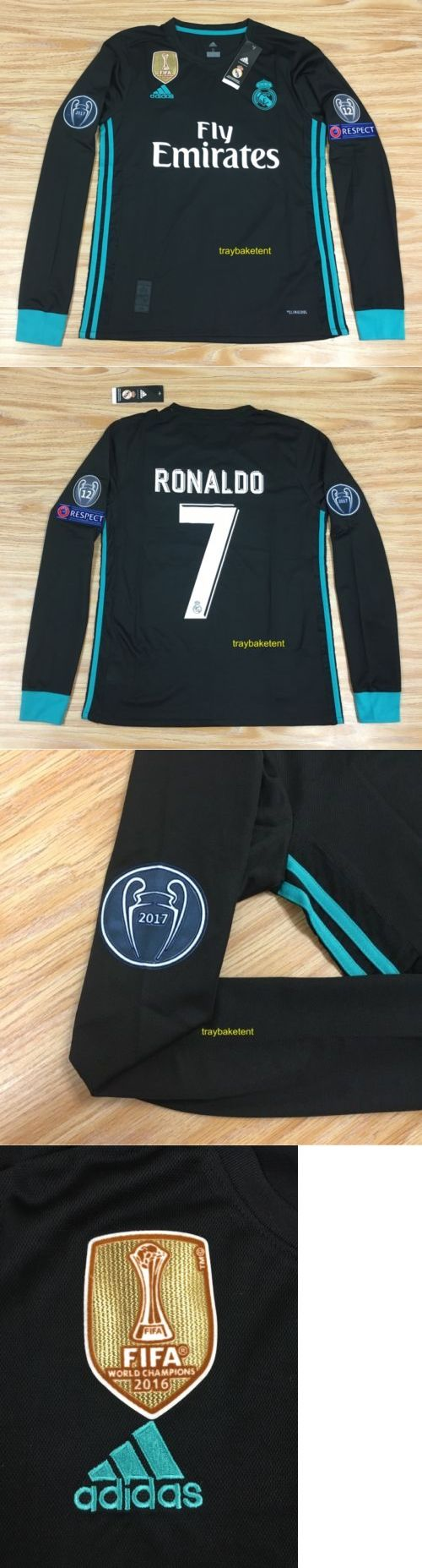 Men 123490: Real Madrid Cristiano Ronaldo Black Long Sleeve Jersey 2017-2018 Size Xl -> BUY IT NOW ONLY: $64.99 on eBay!