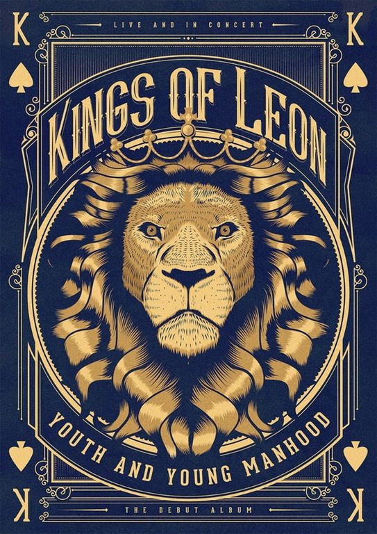 Kings of Leon poster I made for a mate for xmas. : Design