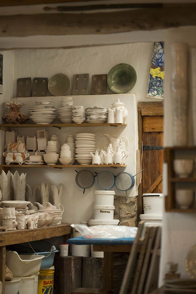 Bisque ware waiting to be fired