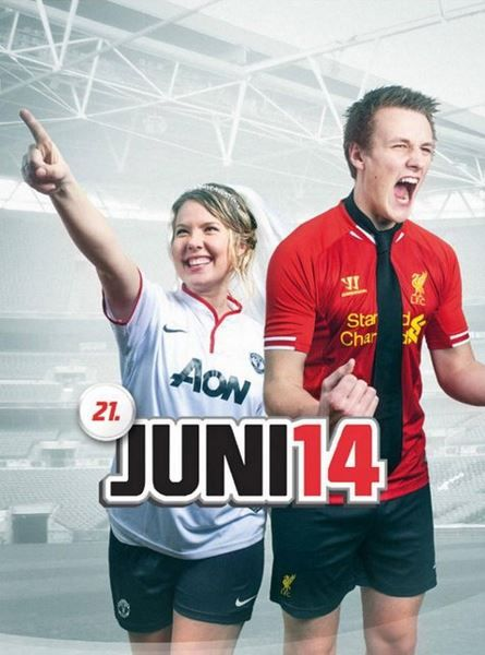 Recreating the cover of EA Sports FIFA Soccer for a Save the Date