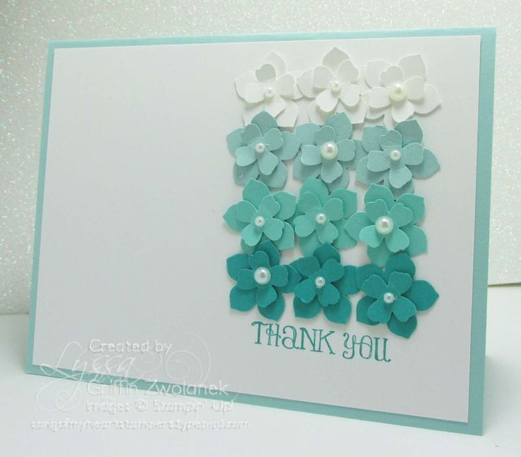 Make these easy ombre flowers cards in no time!
