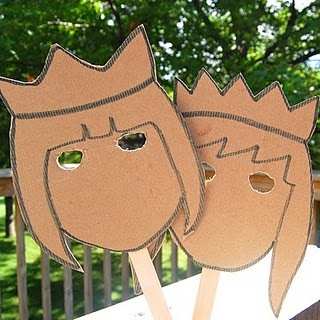 love these cardboard masks