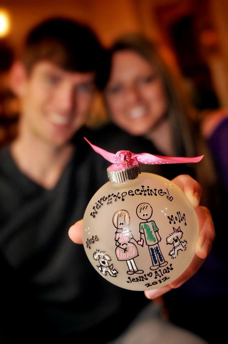 Pregnancy Announcement - Using Christmas Ornament!