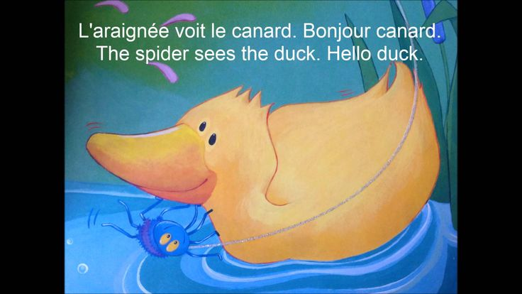 Incy Wincy Spider book translated in French - Easier version for young children learning French.