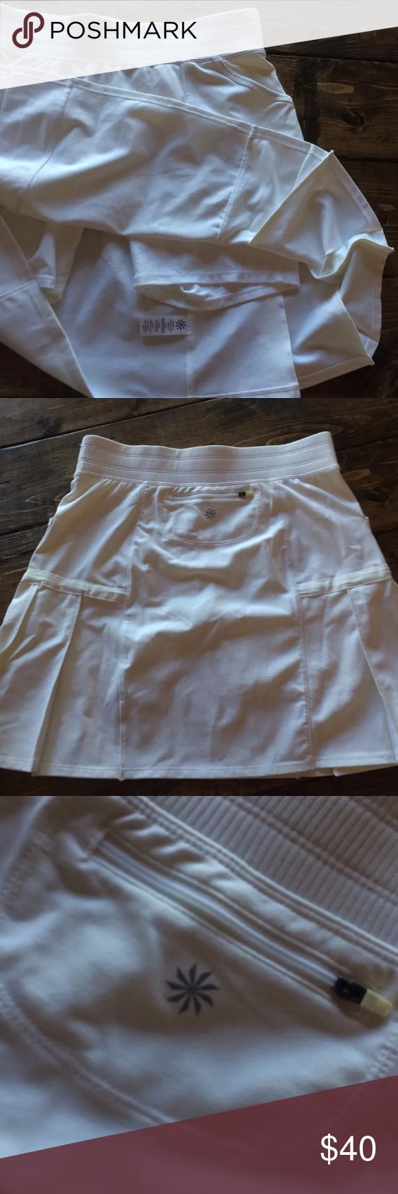 Athleta Tennis Skirt Shorts Small Tall EUC Long Gorgeous and versatile women's Athleta Skirt. Size ST. Excellent condition! Athleta Shorts Skorts