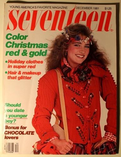 Vintage Seventeen Magazine December 1981 Color Christmas Red Tara Fitzpatrick | eBay