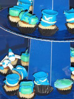 mini cupcakes tematicos Party Design: Aviones