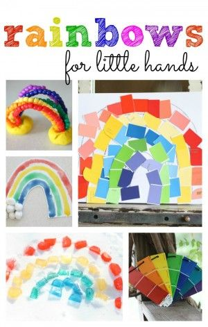 Rainbows for Little Hands- St Patrick's Day crafts!