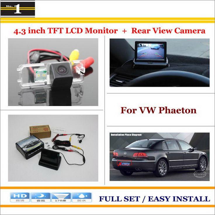 "For Volkswagen VW Phaeton 2002~2009 - Car Reverse Rear Camera + 4.3"" TFT LCD Monitor = 2 in 1 Parking System"