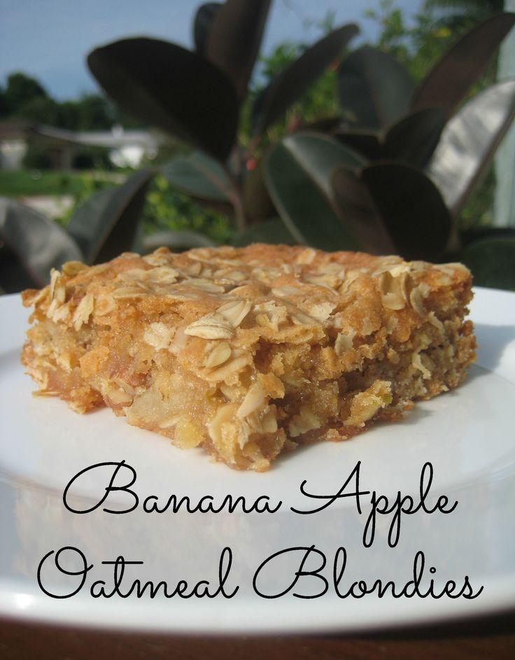 64724 best crazy good recipes images on pinterest kitchens banana apple oatmeal blondies forumfinder Images