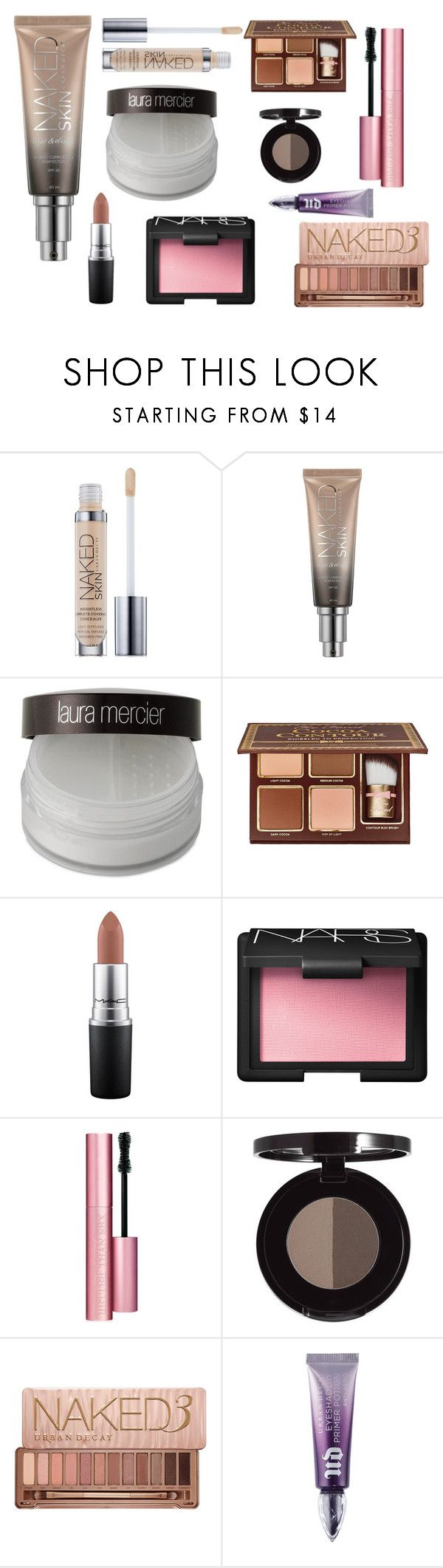 Everyday make-up routine by adri-sm on Polyvore featuring beauty, Urban Decay, Laura Mercier, NARS Cosmetics, Too Faced Cosmetics and MAC Cosmetics