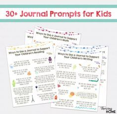 Start a Summer Journal for Kids (+ FREE Printable of 30+ Writing Prompts)   Thriving Home