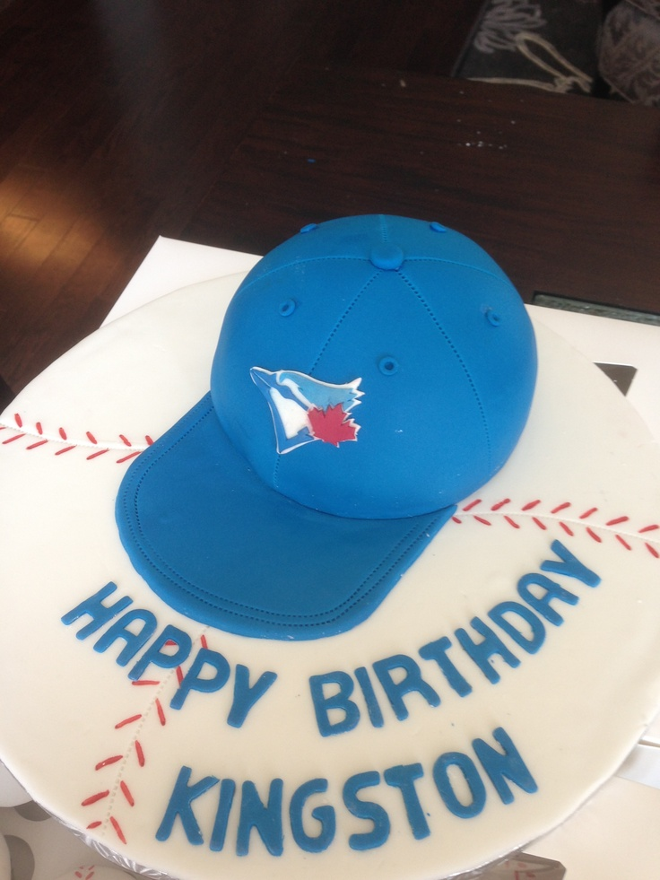 Blue Jays Cake Images : Toronto Blue Jays hat cake birthday ideas Pinterest ...