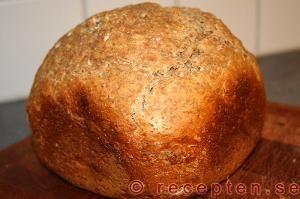 Recept på bröd till bakmaskin