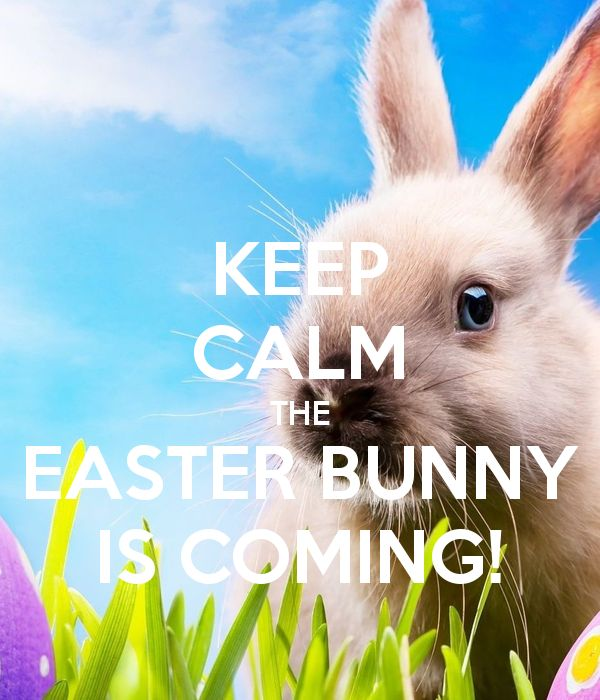 'KEEP CALM THE EASTER BUNNY IS COMING!' Poster