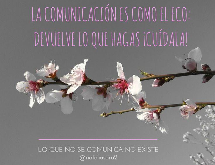La comunicación es como el eco: devuelve lo que hagas, así que ¡cuídala! Y es aplicable a todos los ámbitos, del personal al profesional. #comunicación #comunicacióneficaz #marcapersonal #marcaprofesional #comunicacióncorporativa