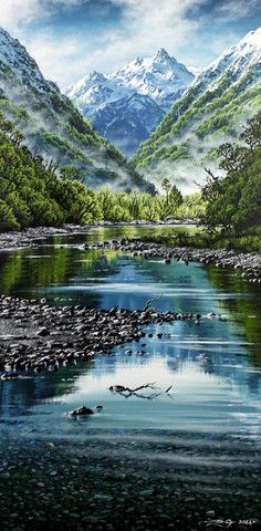 Mist in the Fiords by Dale Gallagher - Central Art Gallery Queenstown