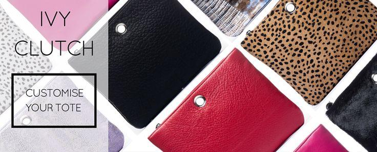 VVA Ivy clutch collection -  handmade leather clutch swaps for the VVA Dahlia handbag