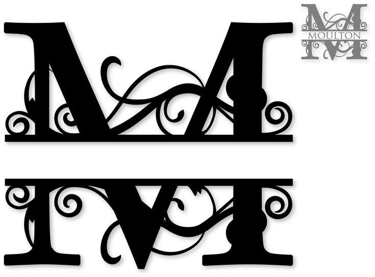 Image result for Free Split Monogram SVG  Free monogram fonts, Cricut monogram font, Cricut