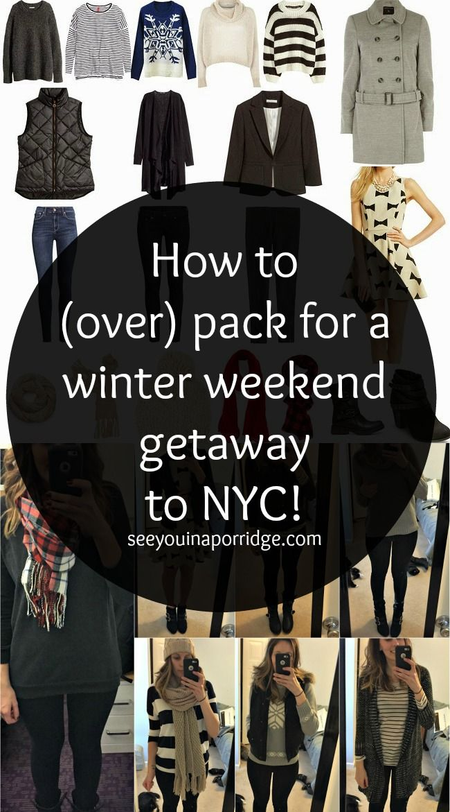 See You In A Porridge: How to (over) pack for a few days in NYC.. using only a carry on!