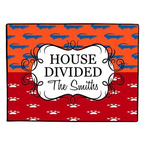 House Divided Doormat Personalized Door Mat Florida