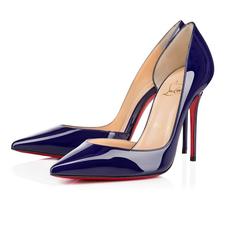 from us.christianlouboutin.com · Iriza 100mm Navy Patent
