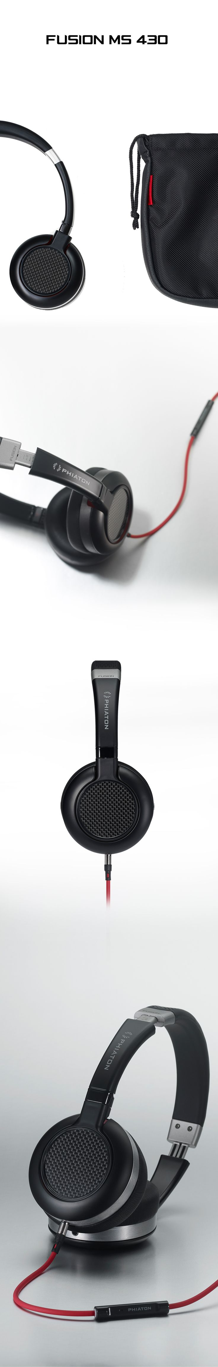 PHIATON Headphones FUSION MS 430 CARBON FIBER DESIGN