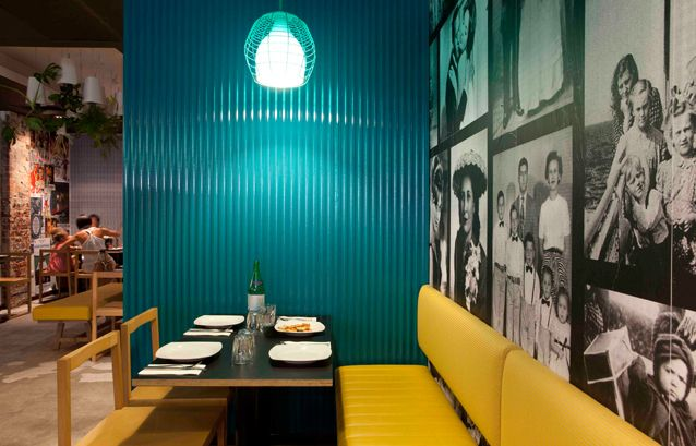 Pizzeria in Perth Inspired by 70′s Style Interior Design