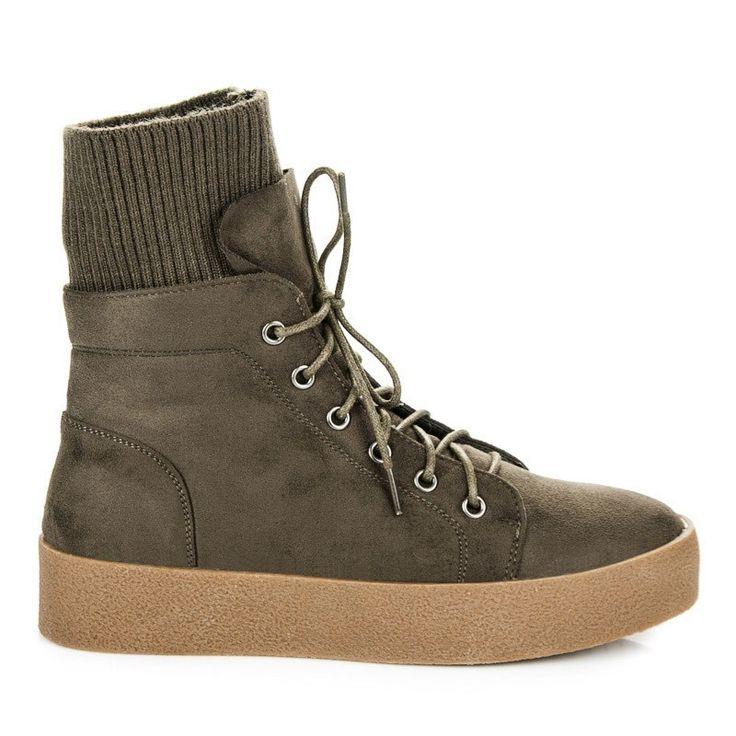 Členkové topánky bez opätku E4935GR