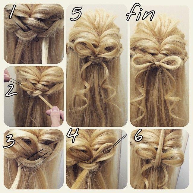 キレイな細リボンやり方  1.まずは三つ編みを作る! 三つ編みじゃなくても結ばれている場所や 止まっている場所でもいい! そこにリボンを作りたいところにオニピンを刺す!そこにリボンの毛を通す  2.オニピンを引っ張る毛先は下に残るように そこがまた可愛くなるので  3.逆も同じように1.の工程で作ります  4.同じように引き抜く  5.これだけでも可愛いです!  6.よりリボンにするには 下から上にくるっと毛を通すと 最後のようにより、リボンになります!  リボンの毛先を巻くとすっごくかわいいですよね!さりげなくポイントでいれましょー!  #nico...#hair#hairset#hairarrange#ヘアセット#ヘアアレンジ#結婚式ヘア#撮影#ヘアメイク#オシャレ#編み込み#マニキュア#グラデーション#グラデーションカラー#モデル#ヘアスタイル#ヘアカラー#波巻き#くるりんぱ#ファッション#髪型#アレンジ#instagood#cute#編み込みやり方#アレンジやり方#アレンジ解説#ヘアアレンジ解説