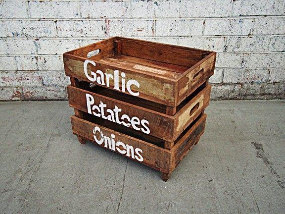 Holy Funk - Kitchen Storage Crate Set/3, $79.95 (http://www.holyfunk.com.au/homewares/kitchen-storage-crate-set-3/)