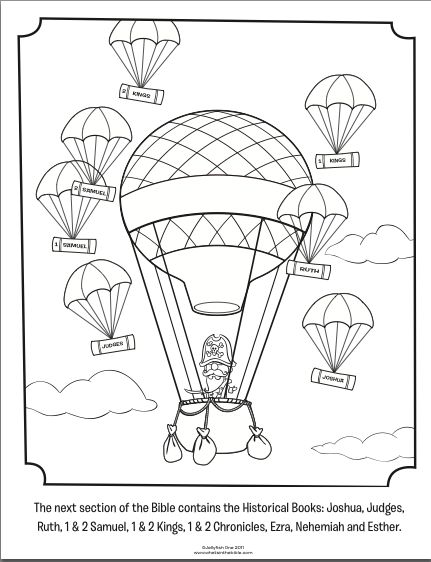kids coloring page from whats in the bible featuring capn pete and the historical