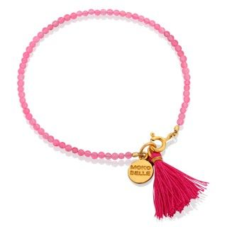 Różowe jadeity z chwościkiem. #young #mokobelle #jewelry #teen #teens #biżuteria #dzieci #nastolatki #dodatki #bracelet #bransoletka