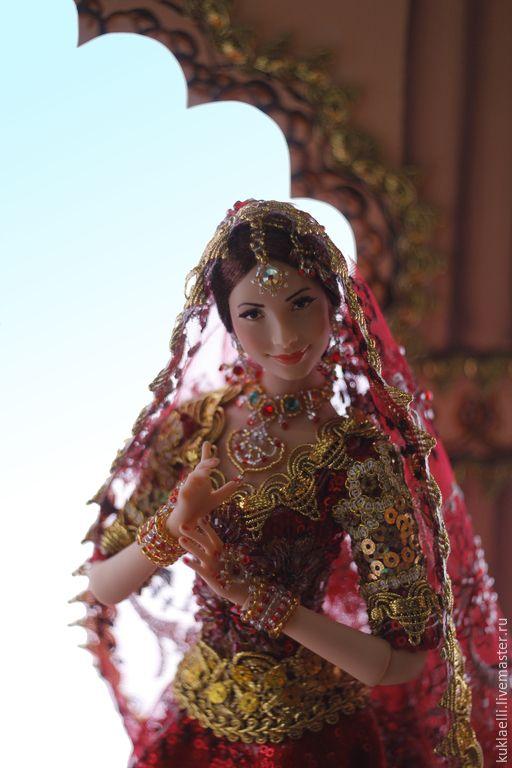 Купить Девушка в индийском наряде - кукла в индийском наряде, индия, индианка, восточный наряд, дупатта