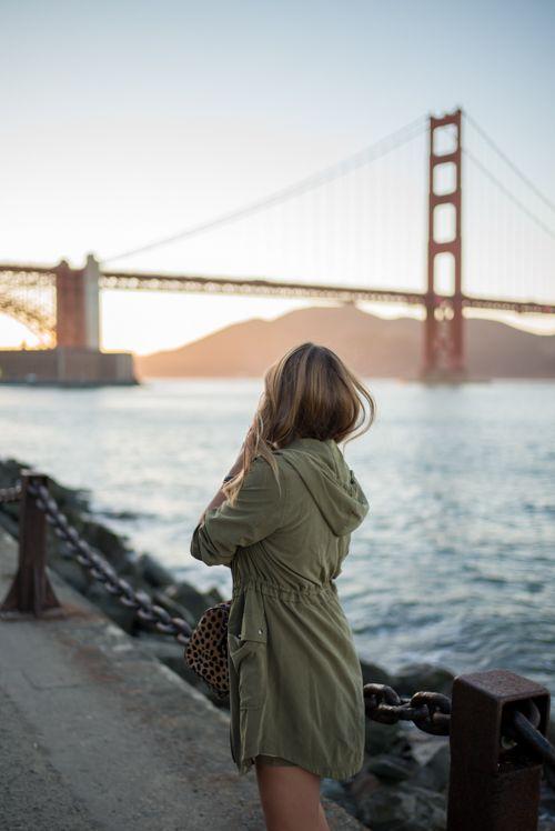 San Francisco at Sunset, wearing my OldNavy jacket while enjoying the view