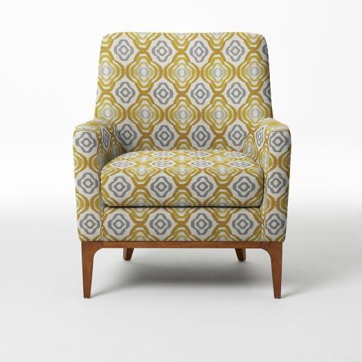 Sloan Upholstered Chair - Prints | West Elm