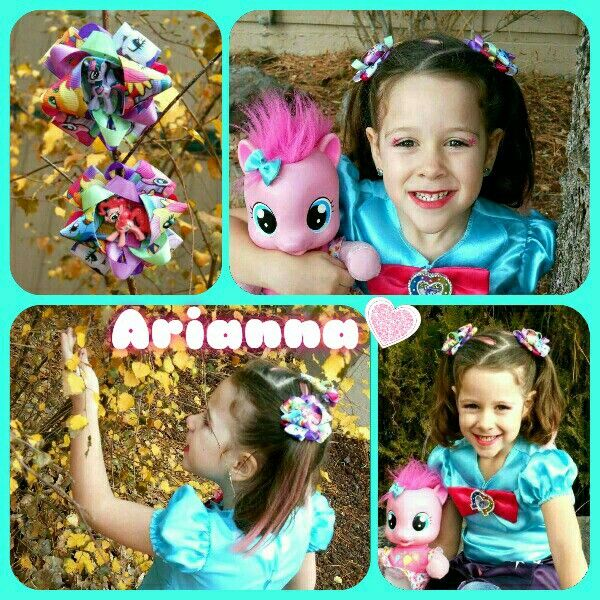 Arianna wearing MLP bows