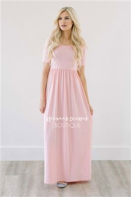 Blush Pink Spring Modest Maxi Dress, Vintage Dress, Church Dresses, dresses for church, modest bridesmaids dresses, trendy modest, modest skirt, modest shirts, cute modest dresses, modest church dresses, mikarose, trendy boutique