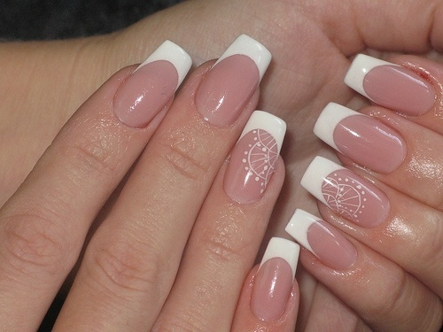 perfect french manicure - I opt for the powder gel white tips with pink gel over lay...avoid liquid gel, fragile and cracks