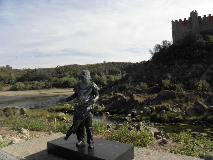 Almourol Castle Templar stronghold on the Tagus river.