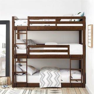 Feb 6, 2020 - Avenue Greene Nola Mocha Triple Floor Bunk Bed