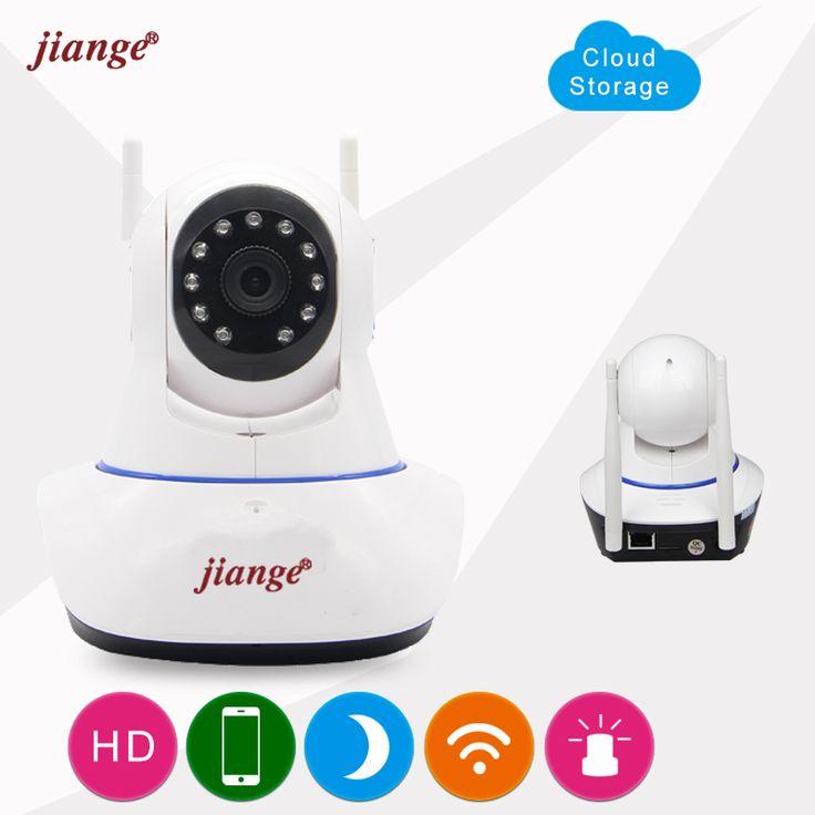 jiange Wireless Cloud Storage IP Camera 720P Video Surveillance Camera PTZ Night Vision Plug&Play 2 Way Audio Baby Monitor