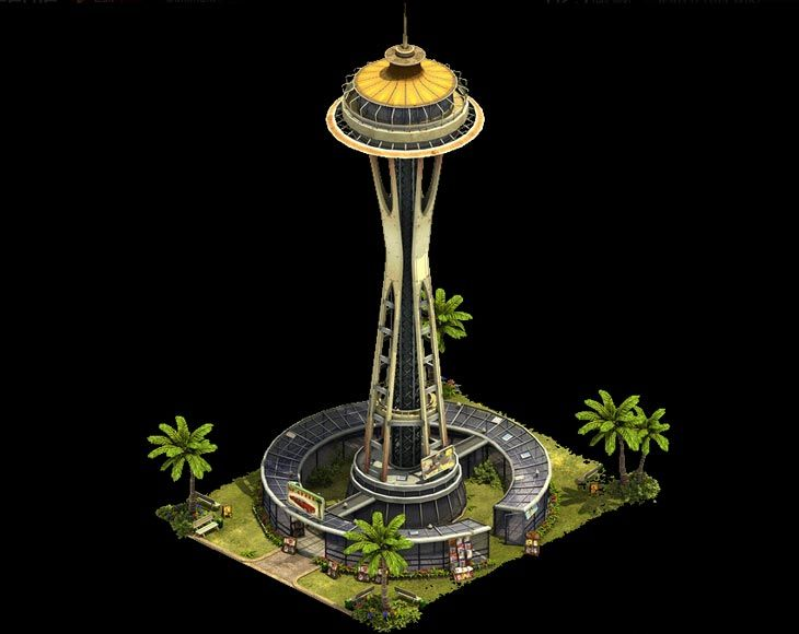 Some details for the Forge of Empires Space Needle that will be unlockable during the Modern Era releasing next week.