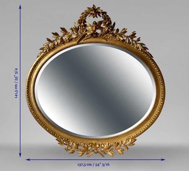 miroirs anciens miroir miroir ovale