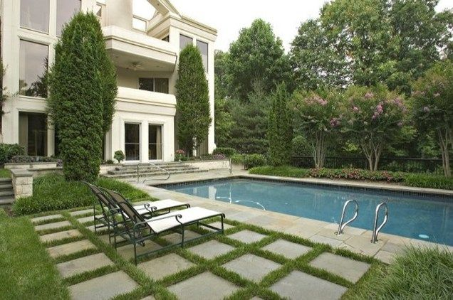 Rectangular pool swimming pool chapel valley landscape for Pool design maryland