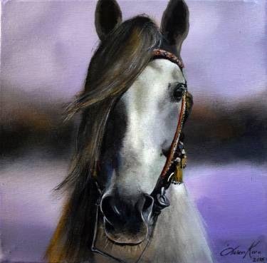 "Saatchi Art Artist Ozlem Kara; Painting, ""Lost in purple"" #art"