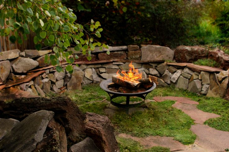 Rustic Outdoor Entertaining Area Designed By The Garden